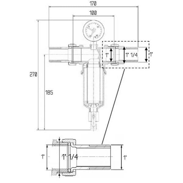 Фильтр промывной Icma 1 1/4'х 1'
