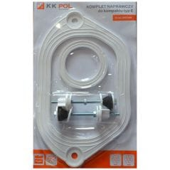 Набор прокладок под бачок унитаза резина  KK Pol + крепежи KPL/521 {70}