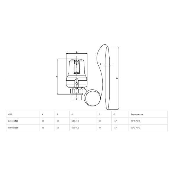 Термоголовка Icma M30*1.5 992