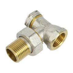 Кран радиаторный угловой под ключ Agua World PN10 НВ 1/2'