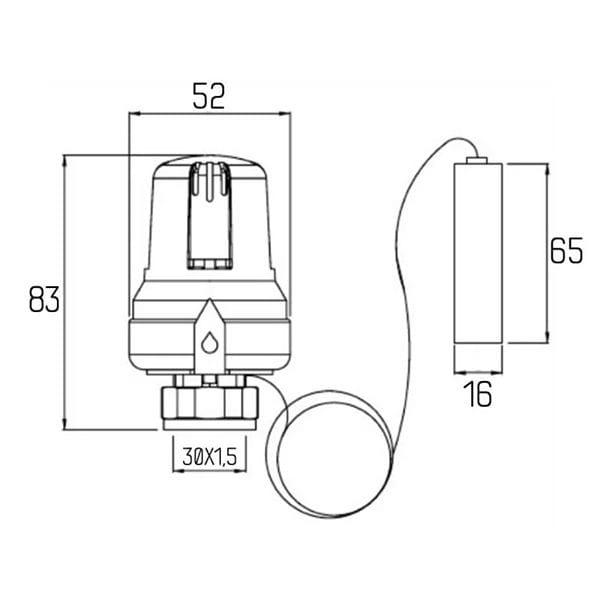 Термоголовка Icma M30*1.5 995