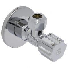 Кран угловой с керамическим запорным элементом Raftec PN10 НН 1/2'*3/8'