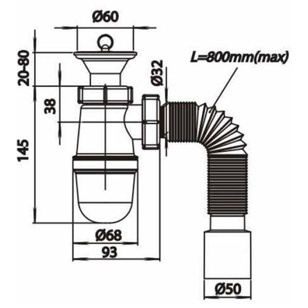 Сифон для умывальника SoloPlast Т0115